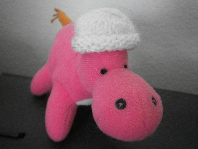 PinkHippoWhiteHat