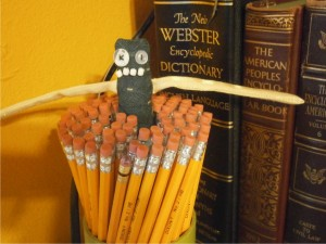 """A bouquet of pencils.  And I'm a part of it."" - Heinrich"
